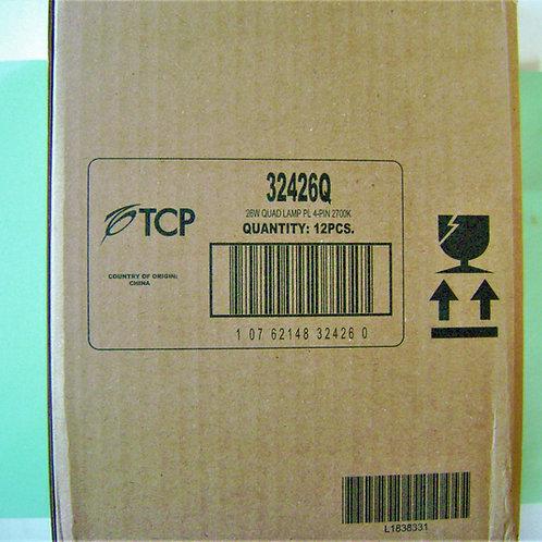 12x TCP 32426Q 26W 2700K Warm White 4-Pin PL Quad Compact Fluorescent Lamp