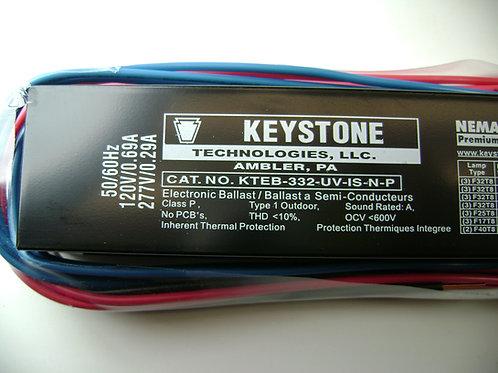Keystone KTEB-332-UV-IS-N-P 3 Lamp T8 Bulb Ballast CrosRef GE-332-MAX-N/ULTRA