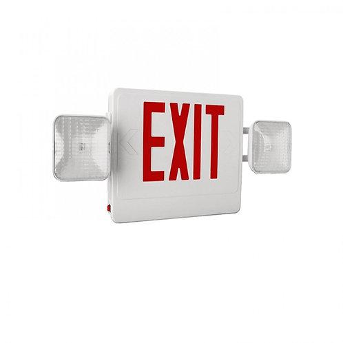 Exit/Emergency Combo LED Double Face Sign w/battery backup 04-CW2-LED