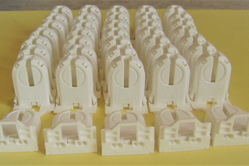40 Leviton 13661-SNP Flourescent or LED Non Shunted Tombstone Lamp Holder Socket