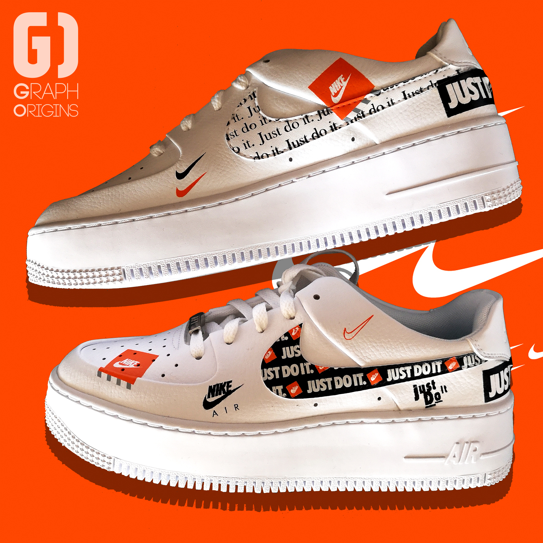 Custom Nike Air Force 1 Just do it