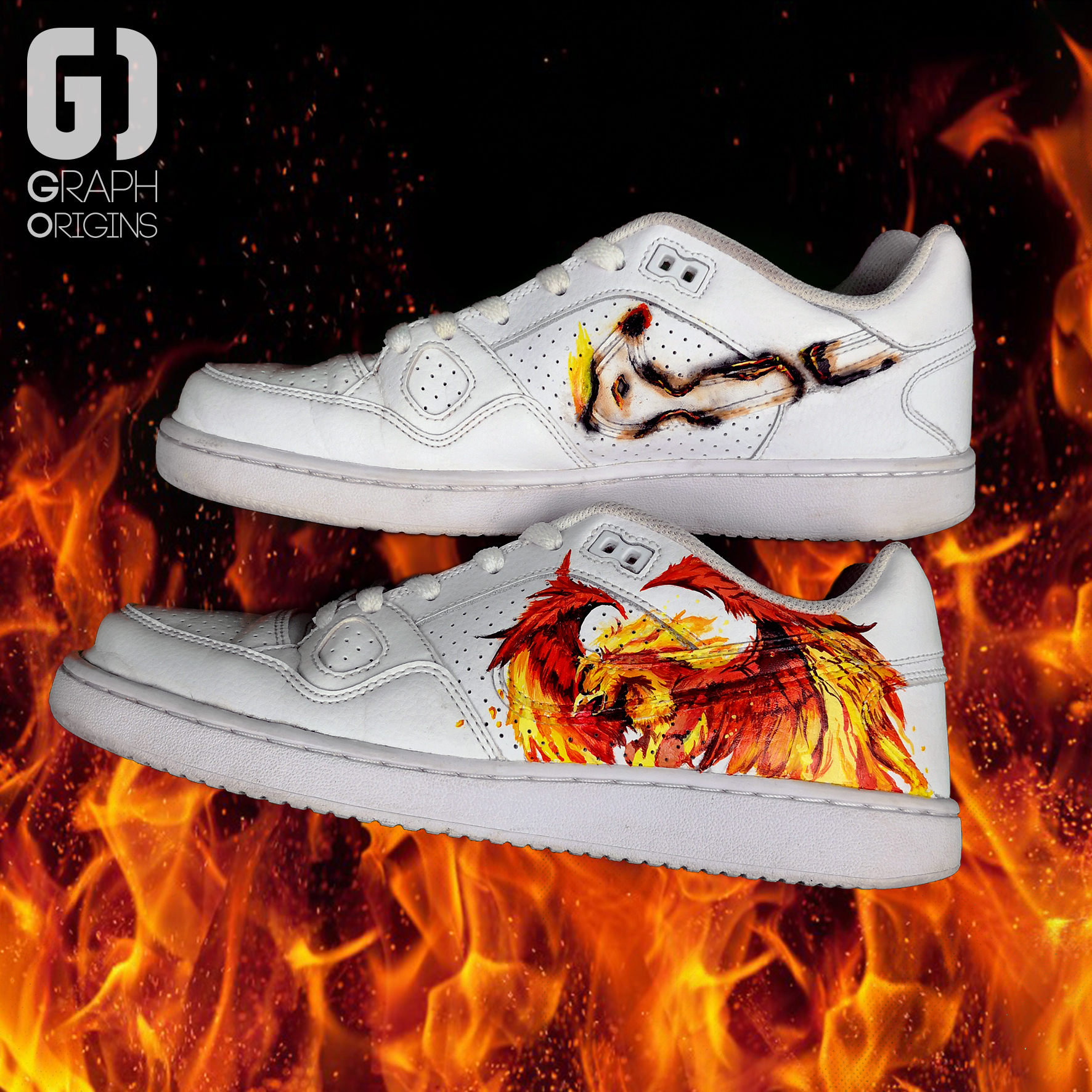 Burned custom Phoenix Nike