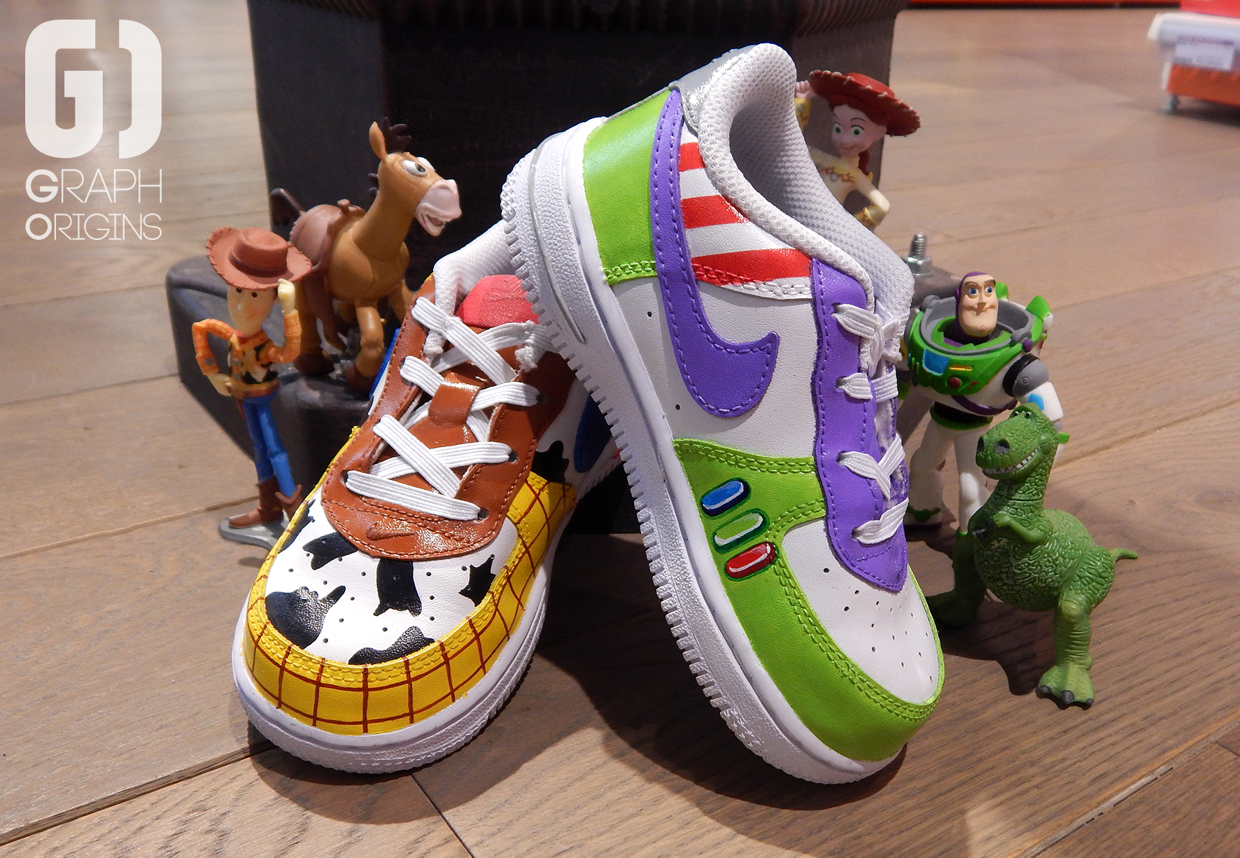 Custom Toy Story sur Nike Air Force 1 Graph Origins 2