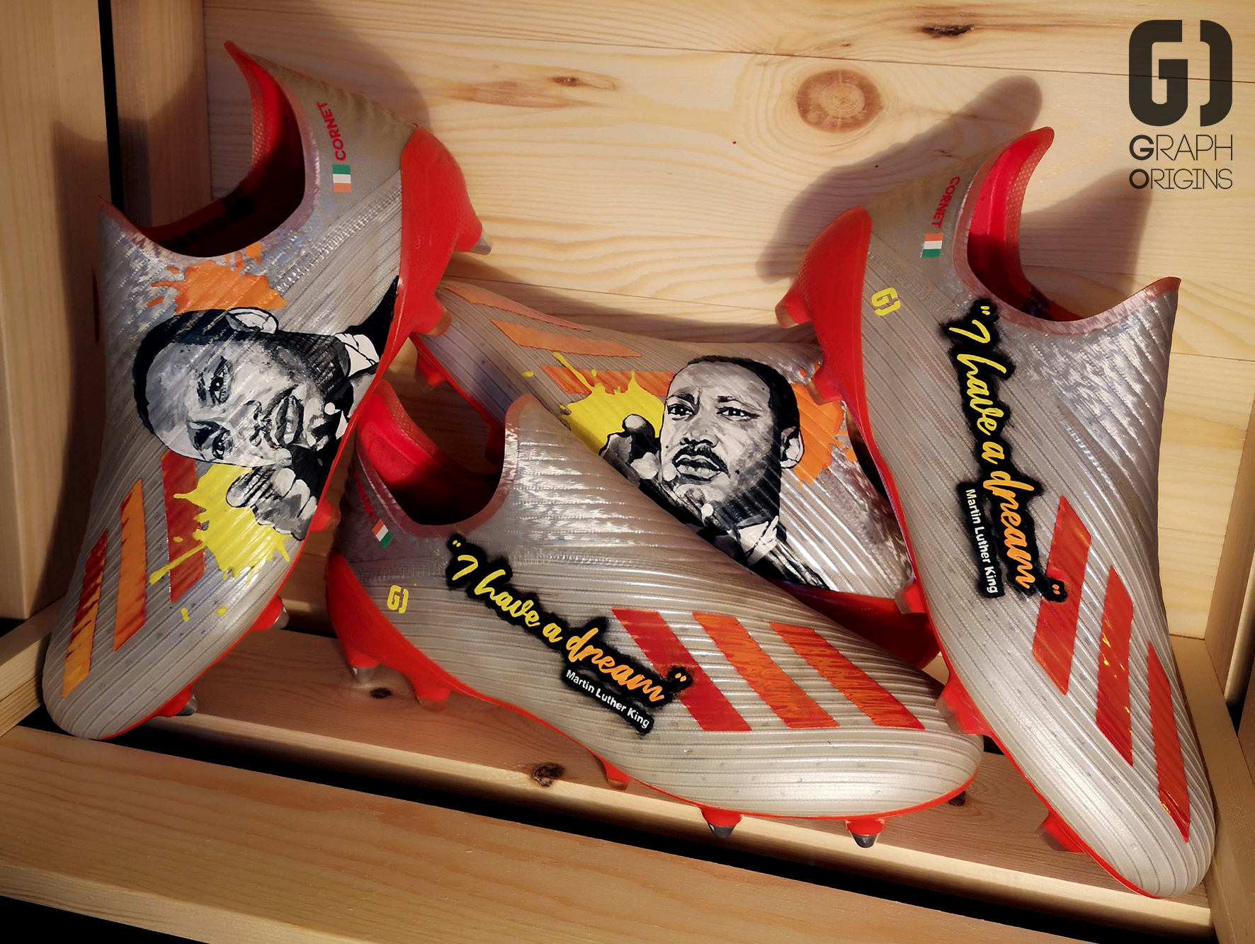 Custom adidas cleats Martin Luther King