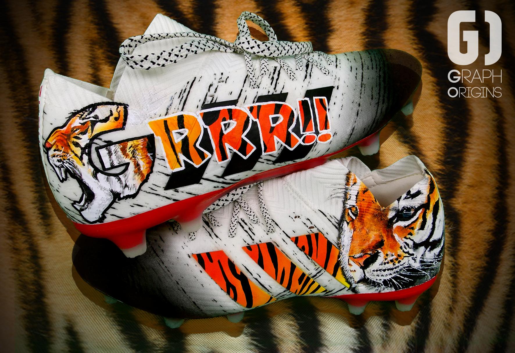 Custom Rony Lopes Tigre Adidas Nemeziz
