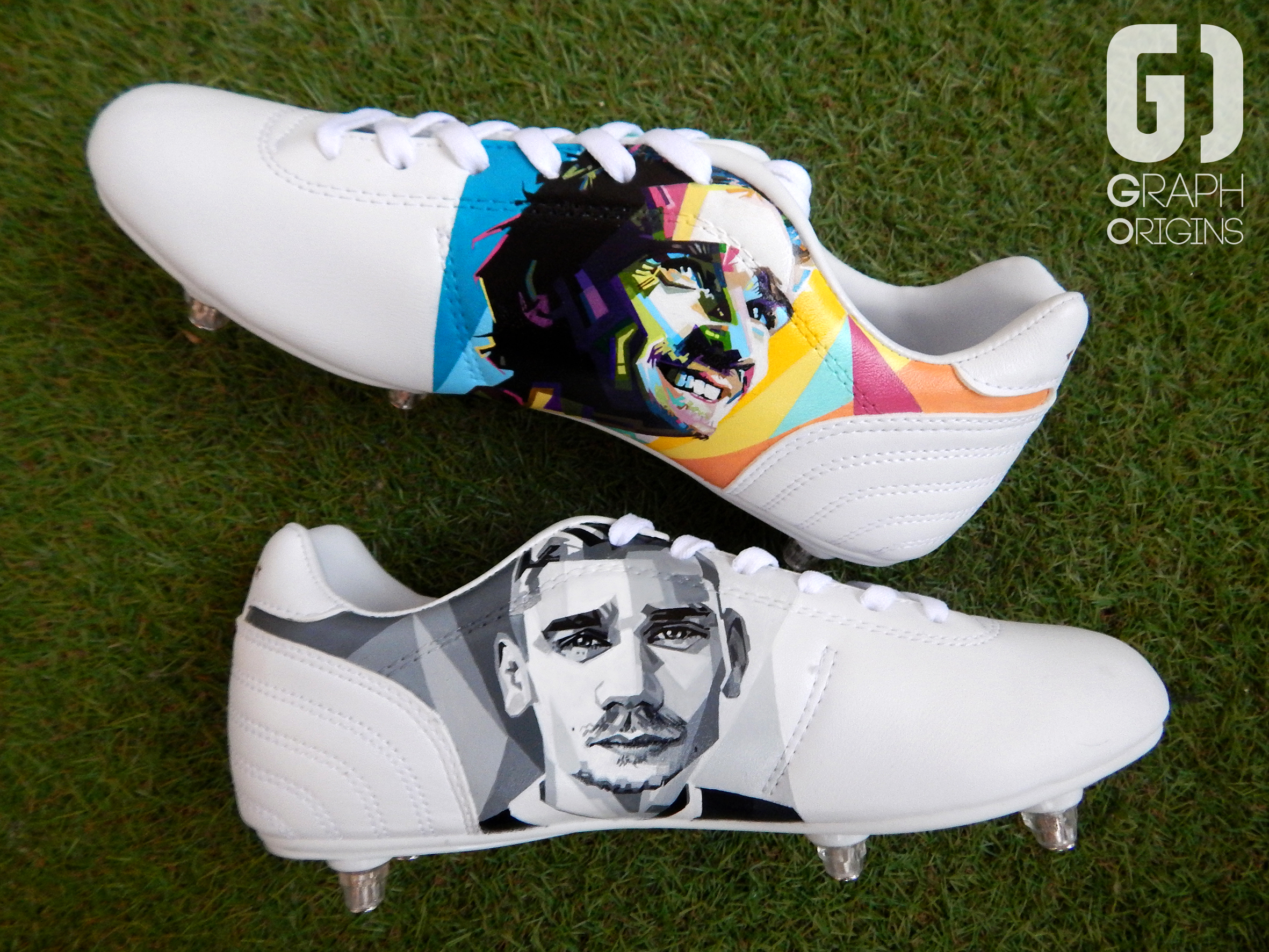 Custom chaussures football pantofola d'oro griezmann graph origins 3