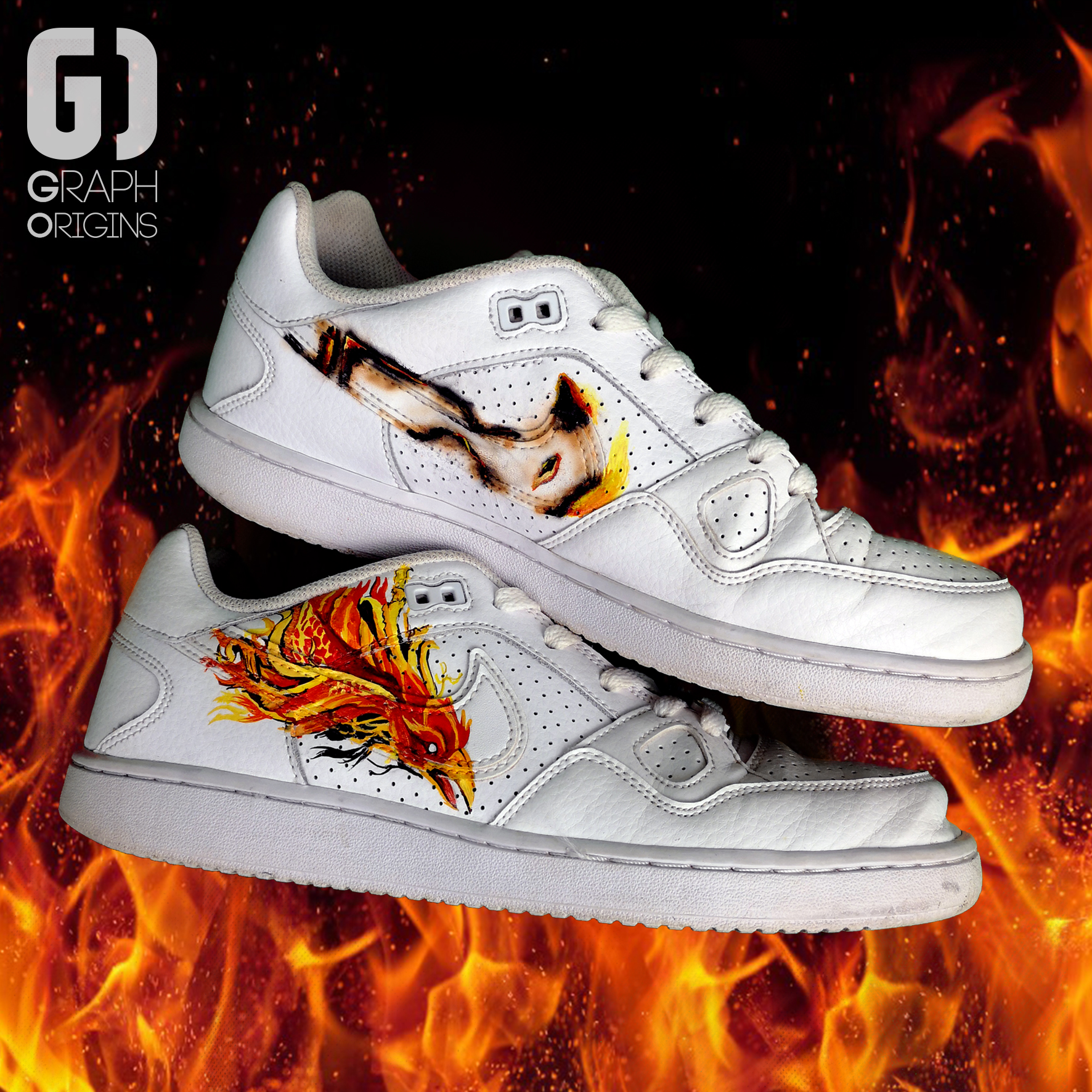 Burned custom Phoenix Nike 3