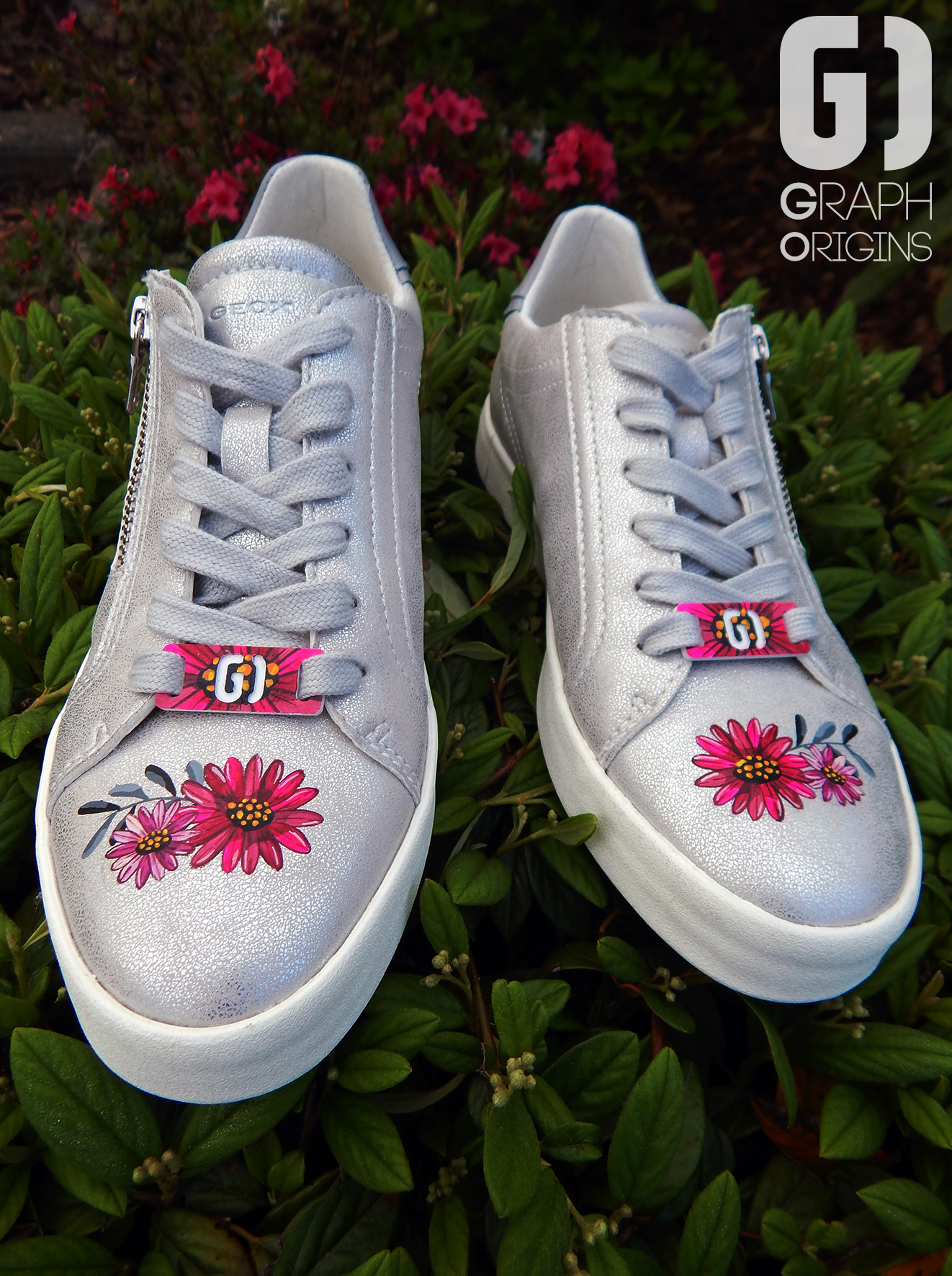 Customisation Chaussures Geox fleurs