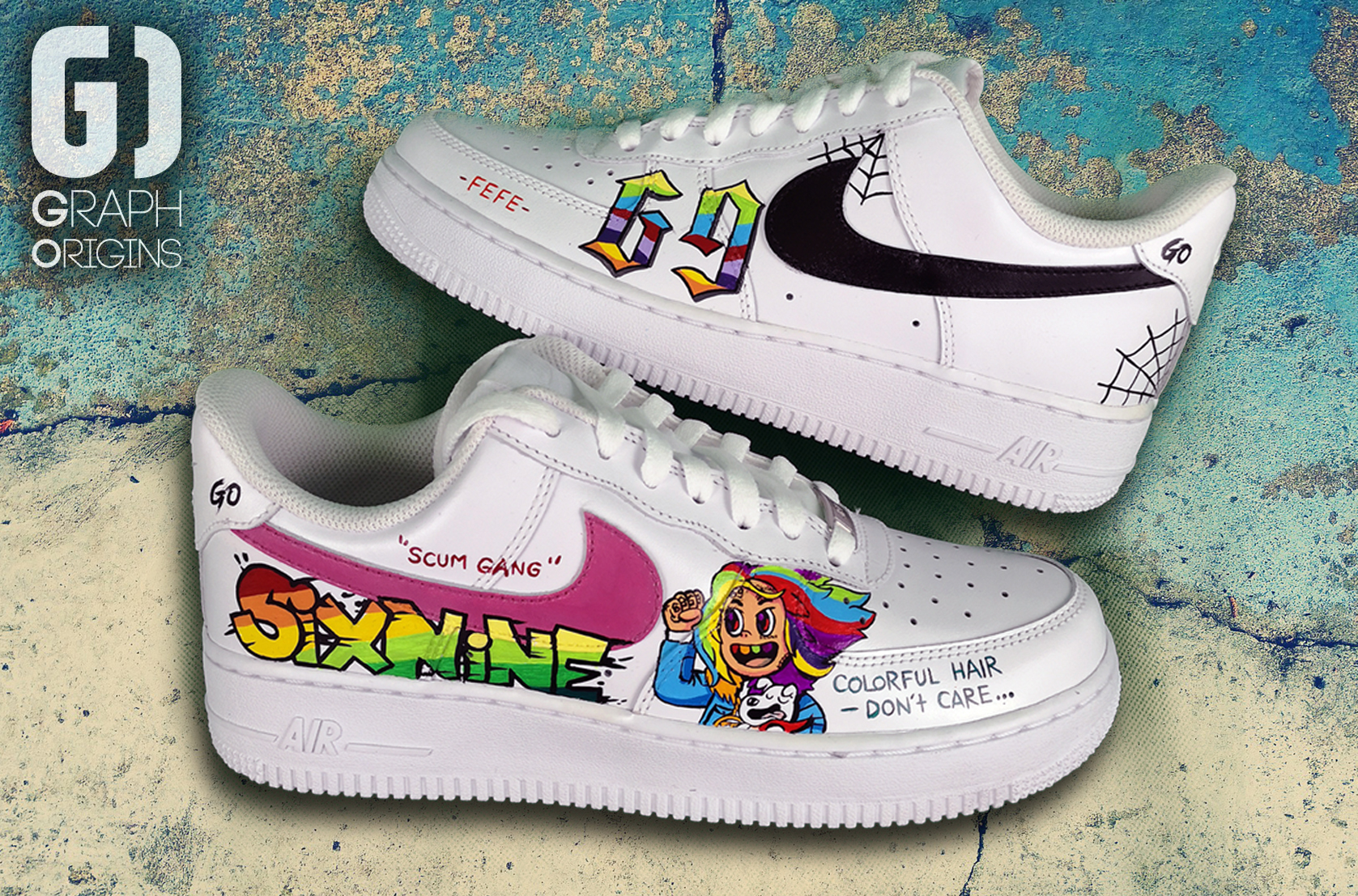 Custom 6ix9ine Air Force 1
