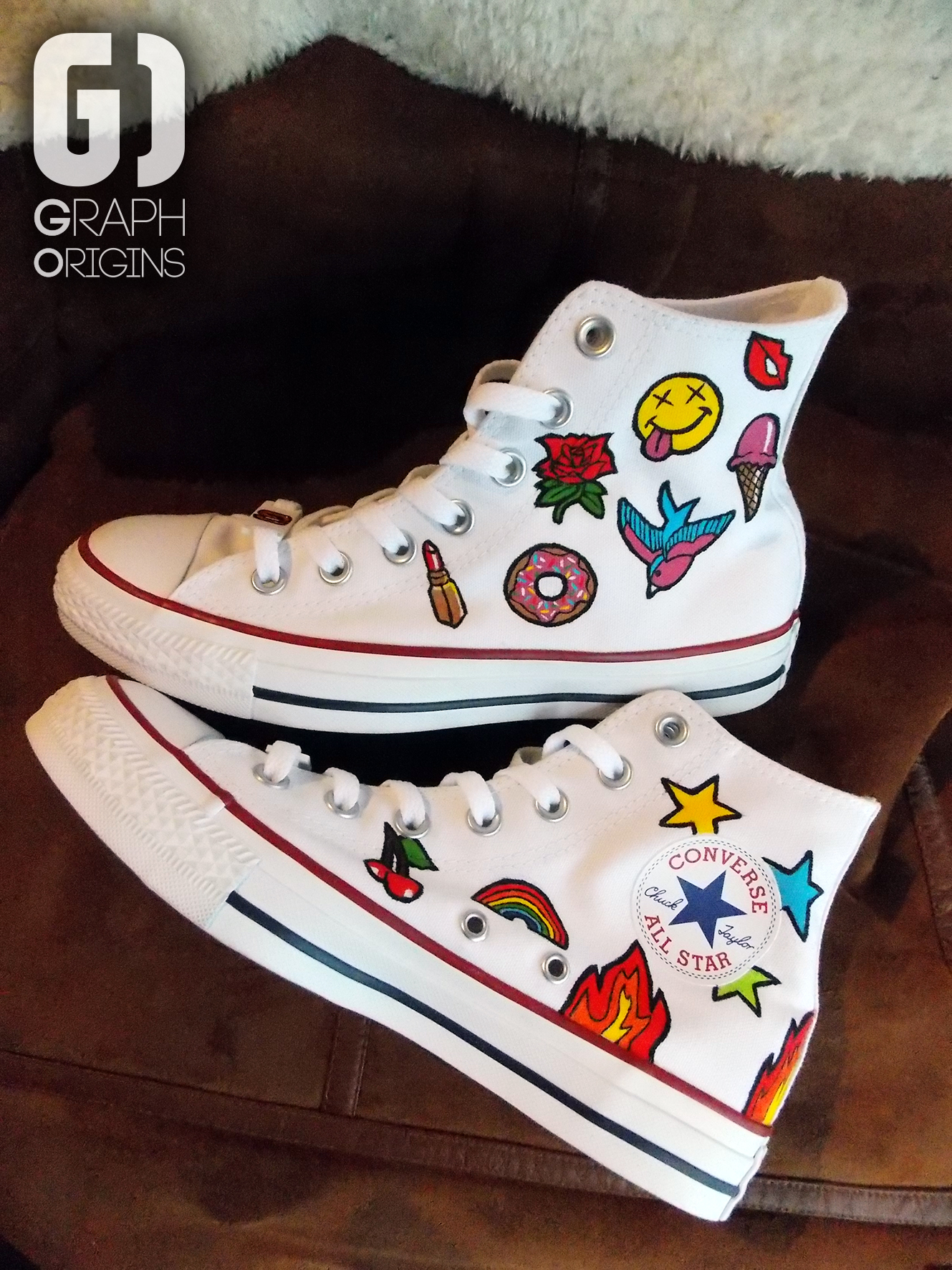 Custom Converses All Star patchs
