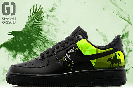 Personnalisation chaussures Nike Air Force 1 Game of thrones Barathéon