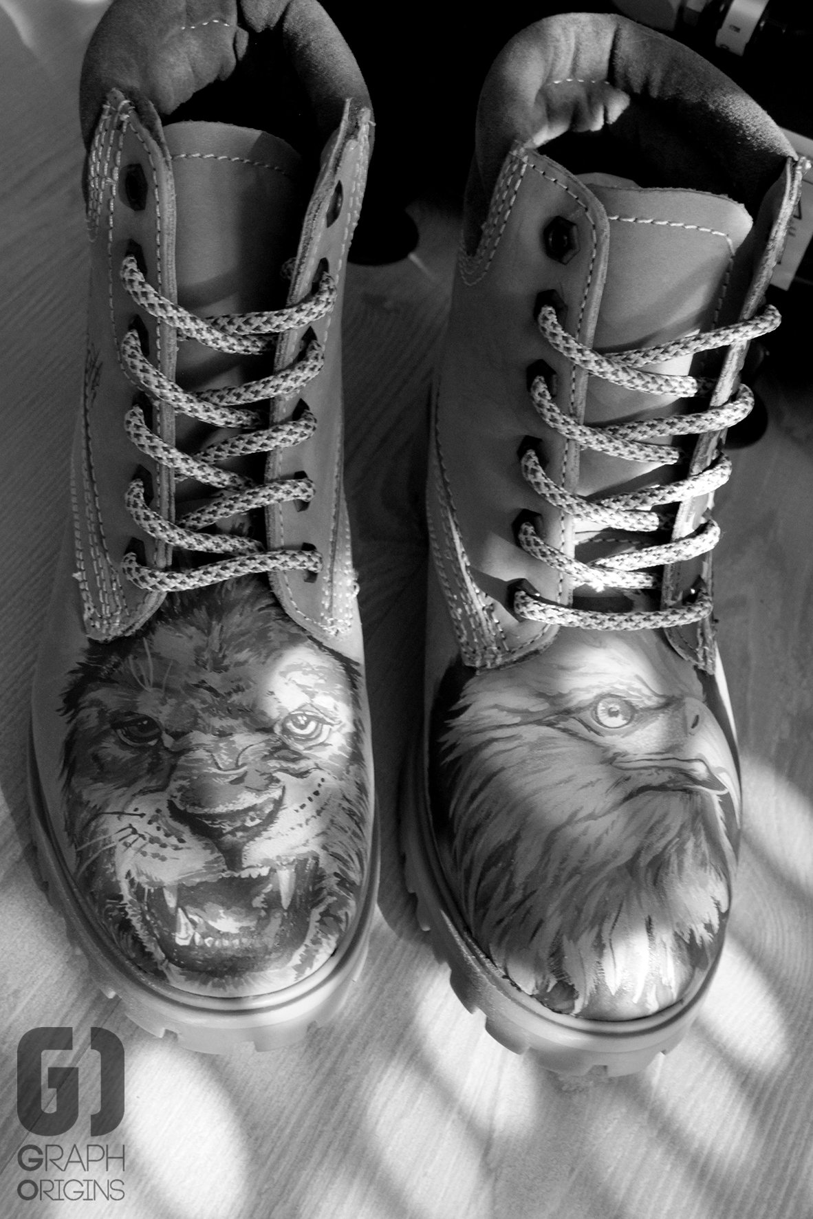 Custom boots lion eagle 3