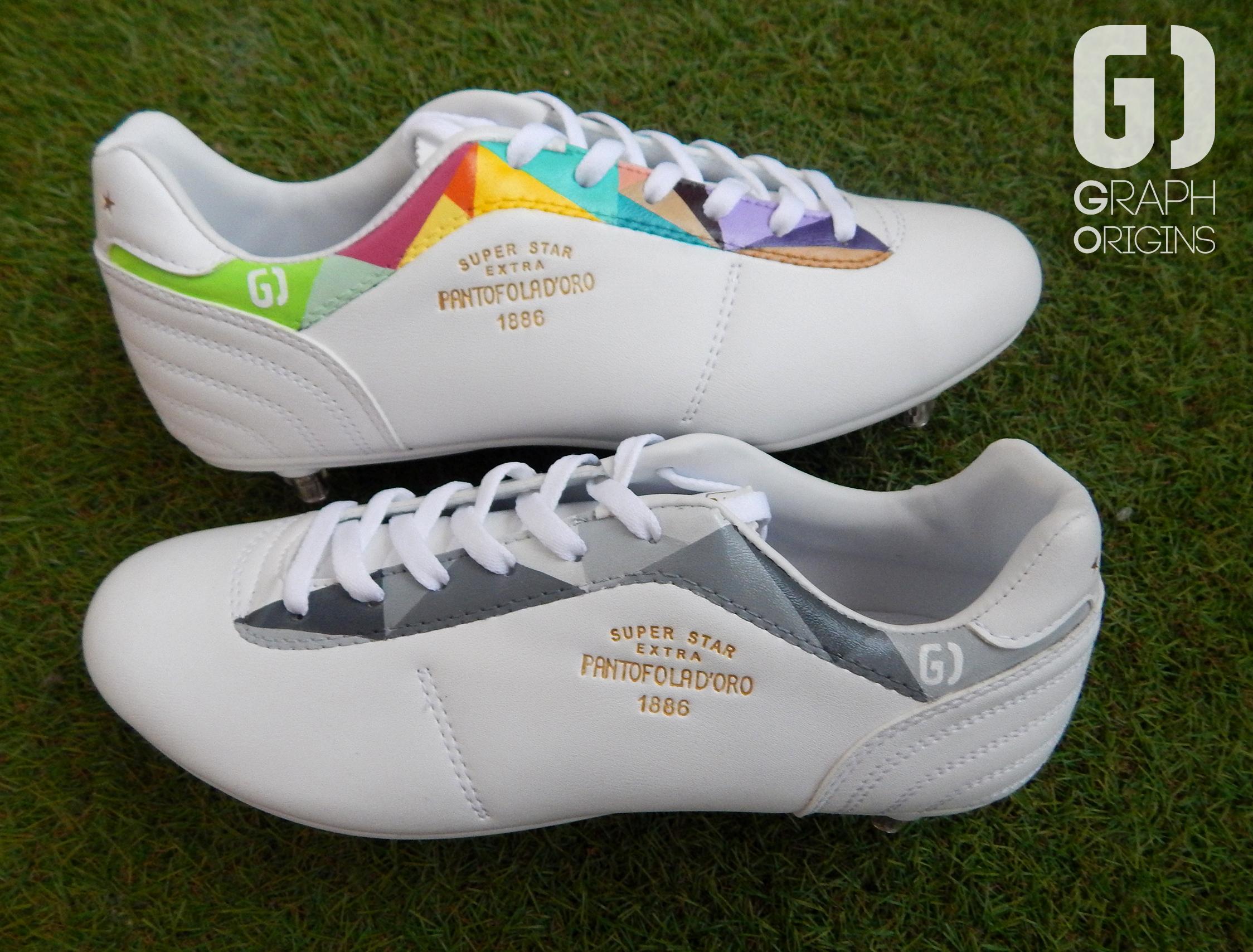Custom chaussures football pantofola d'oro griezmann graph origins 5