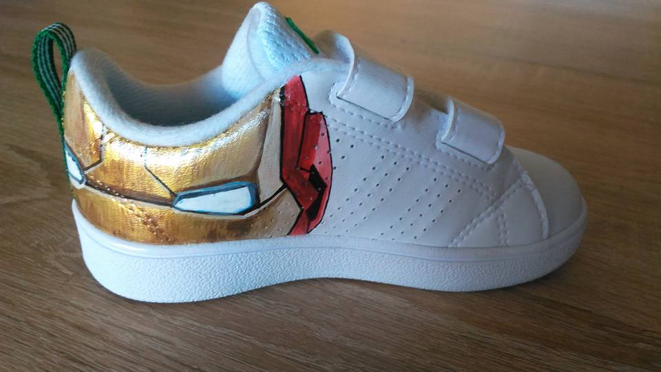 Custom baskets adidas neo marvel graph origins 5