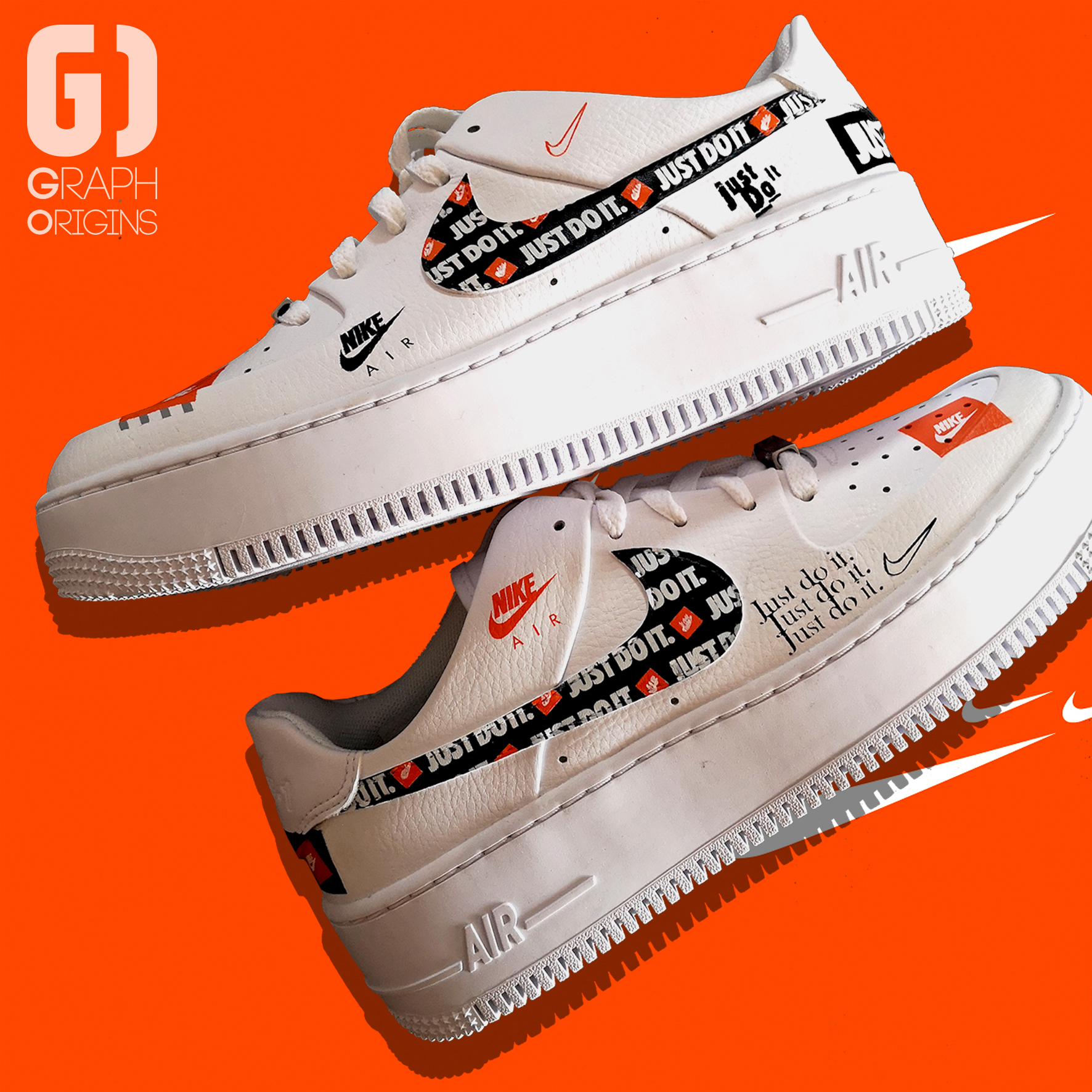 Custom Nike Air Force 1 Just do it 2