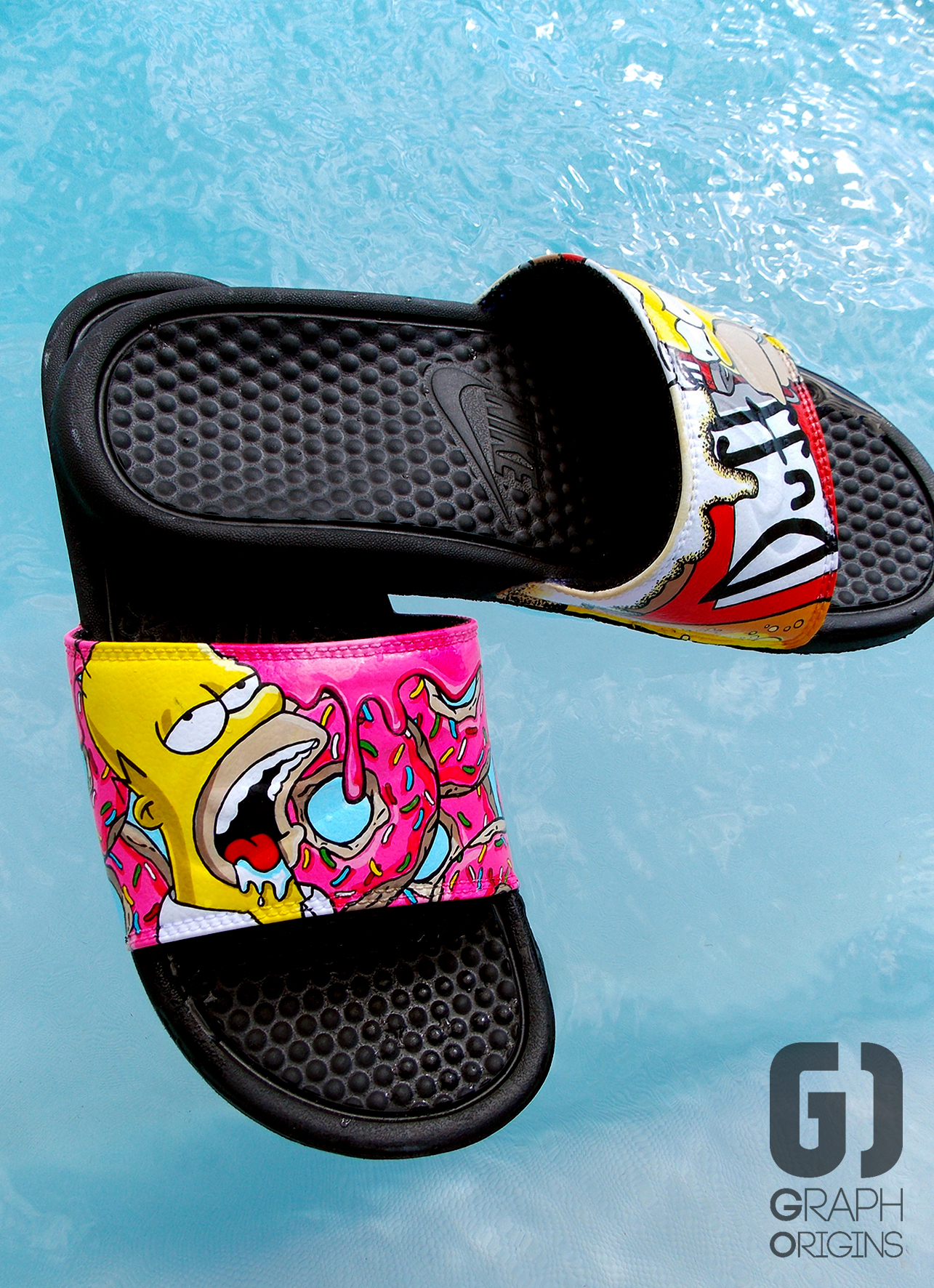 Claquettes Nike Homer Donuts Duff 1