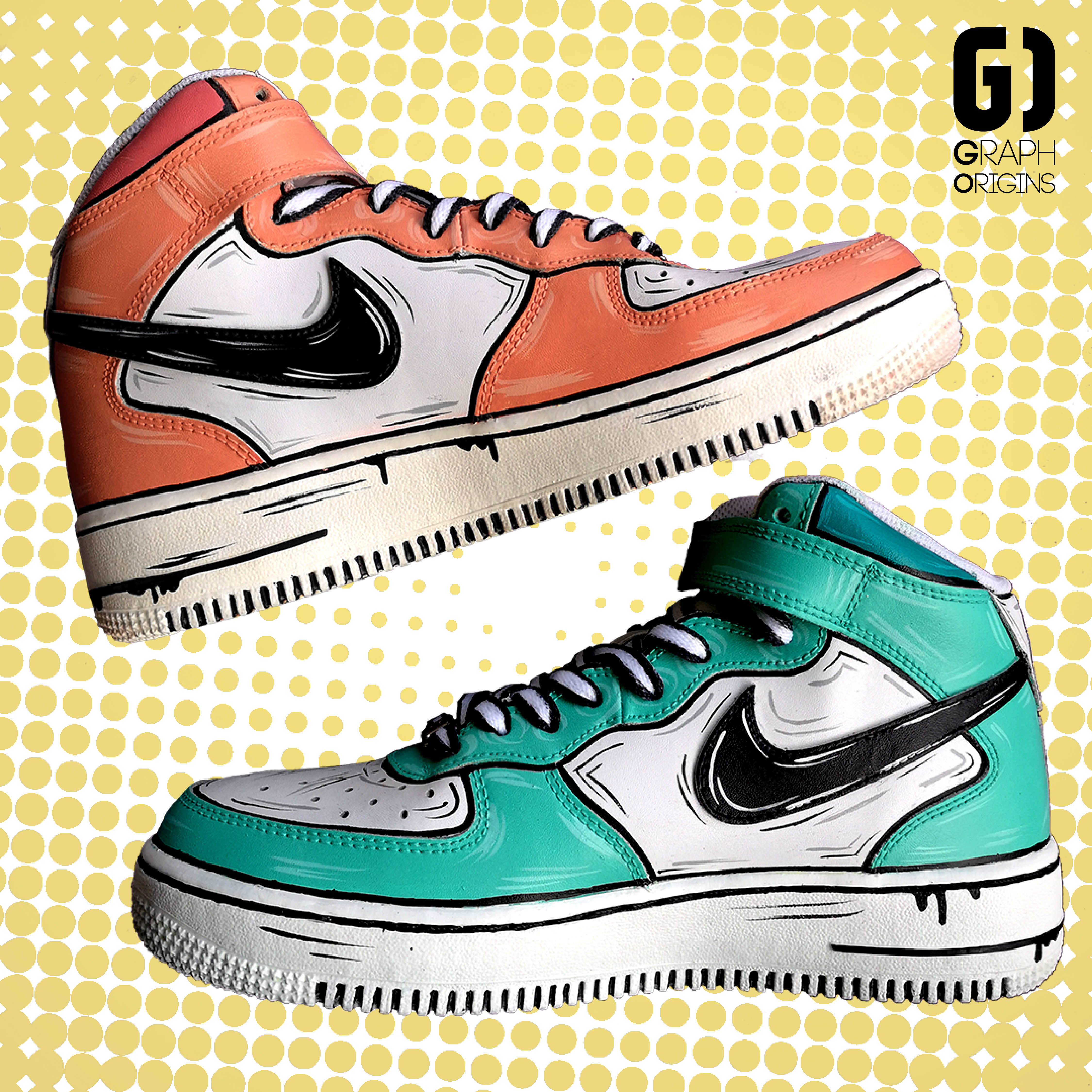 Custom cartoon Air Force Nike 1-01