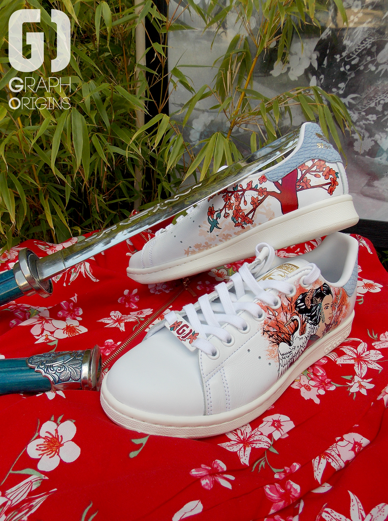 custom japonisant sur adidas stan smith.