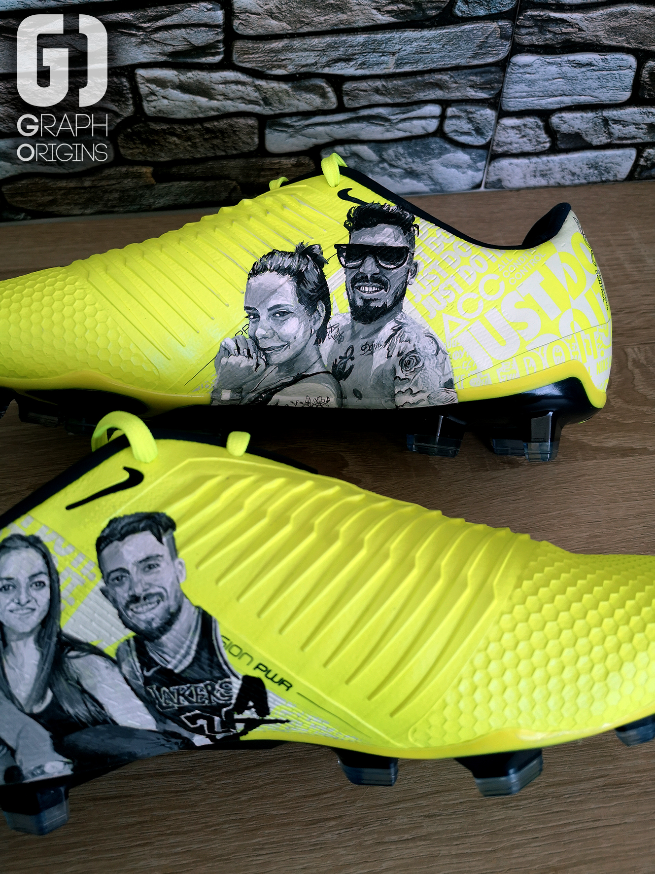 Alex Telles cleats portrait Graph Origin