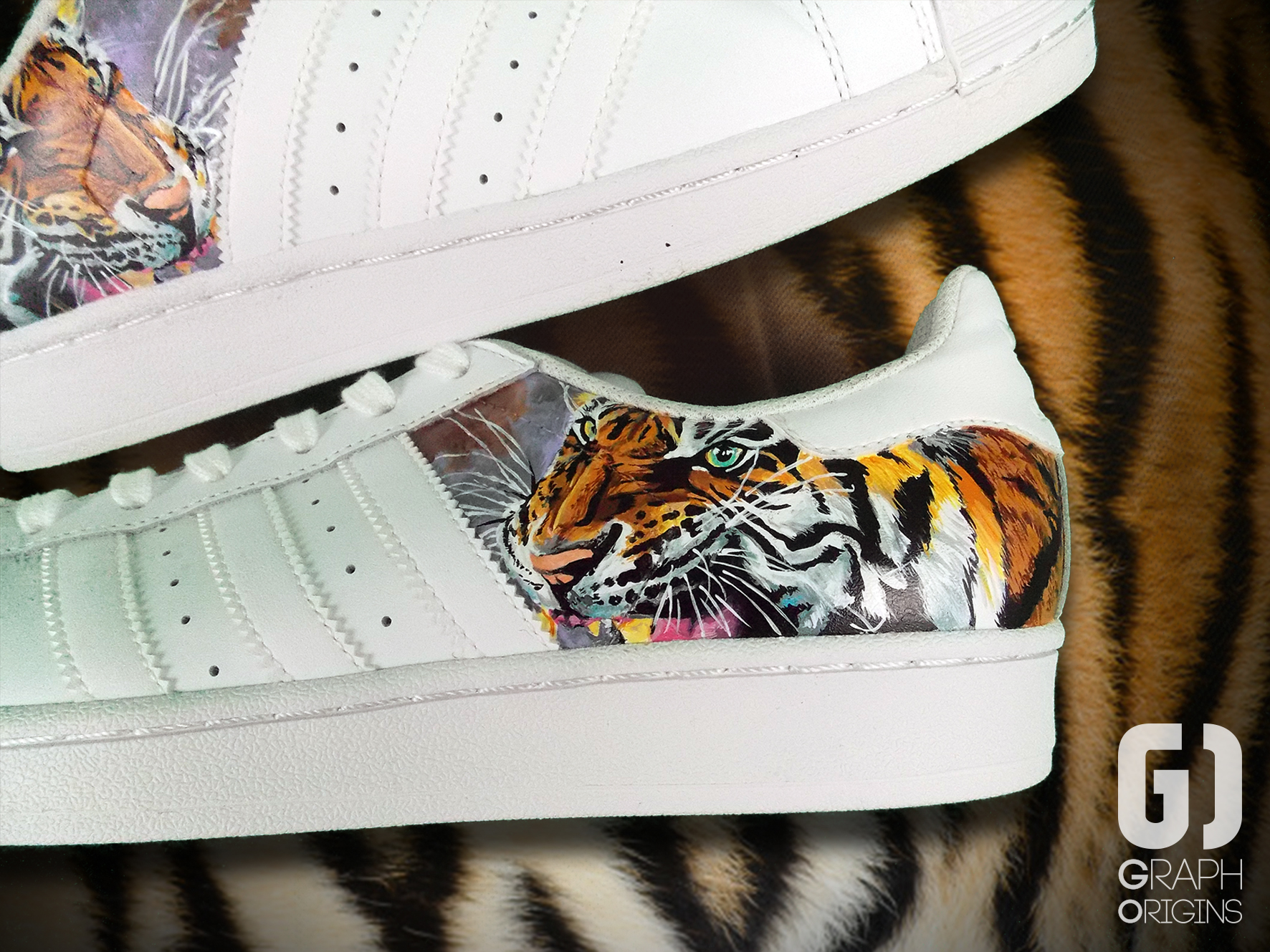 Custom Tiger Adidas Superstar 2