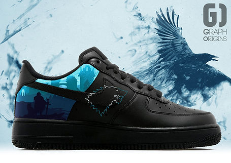 Personnalisation chaussures Nike Air Force 1 Game of thrones Stark