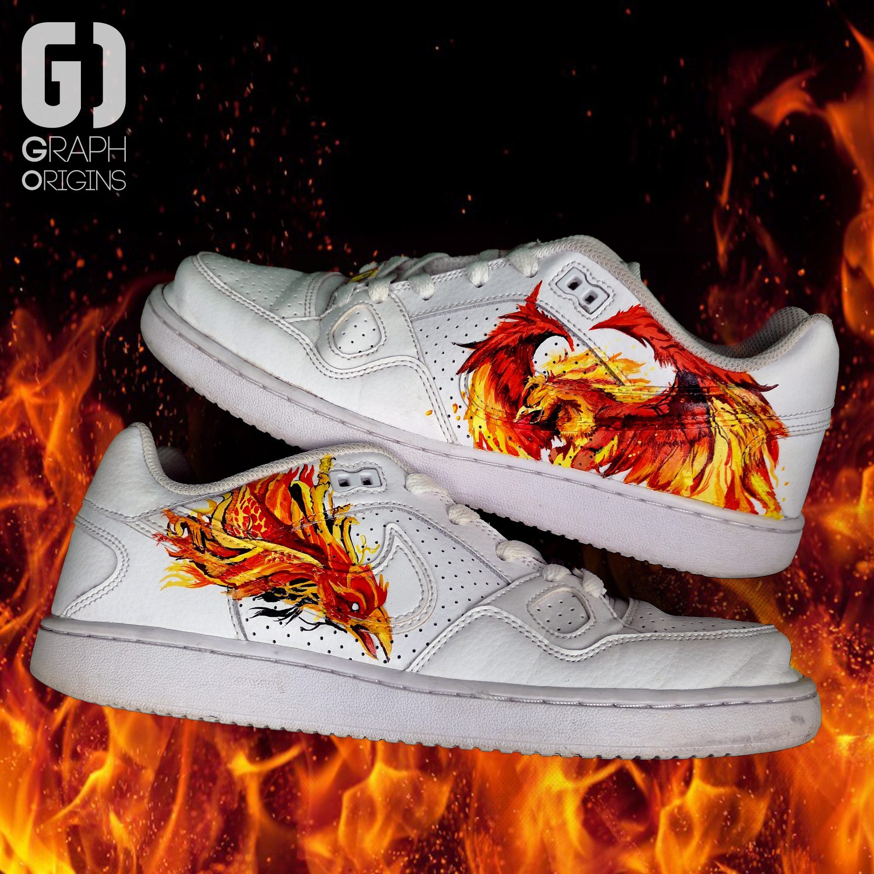 Burned custom Phoenix Nike 4