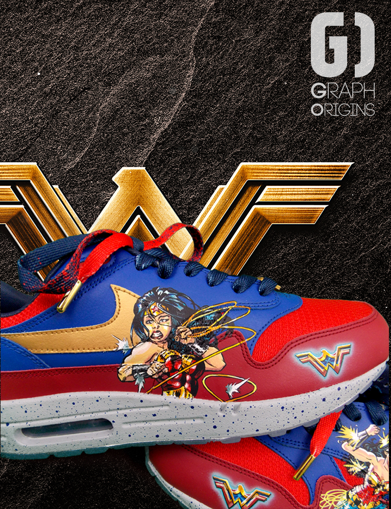 Custom Wonder Woman nike air max 4