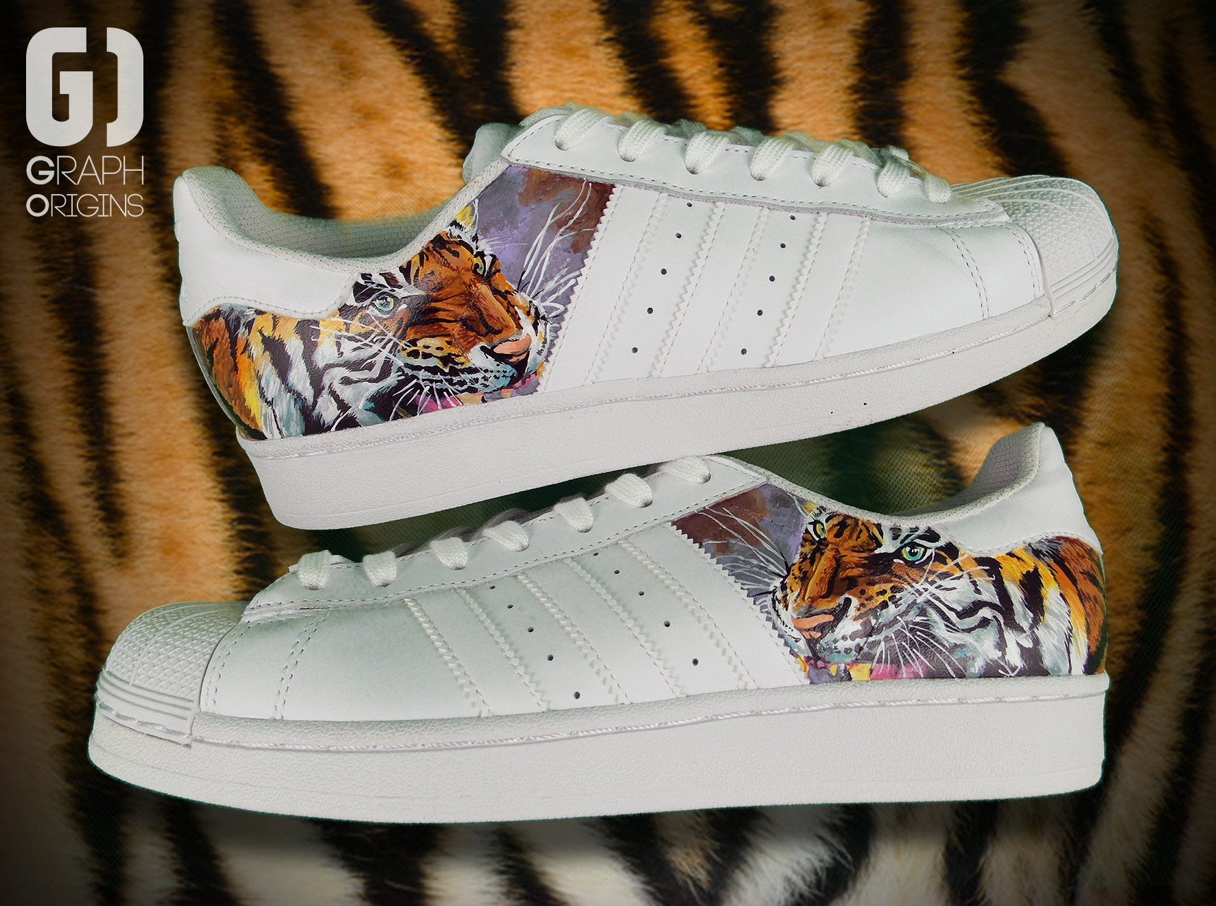 Custom Tiger Adidas Superstar