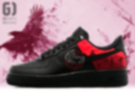 Personnalisation chaussures Nike Air Force 1 Game of thrones Targaryen