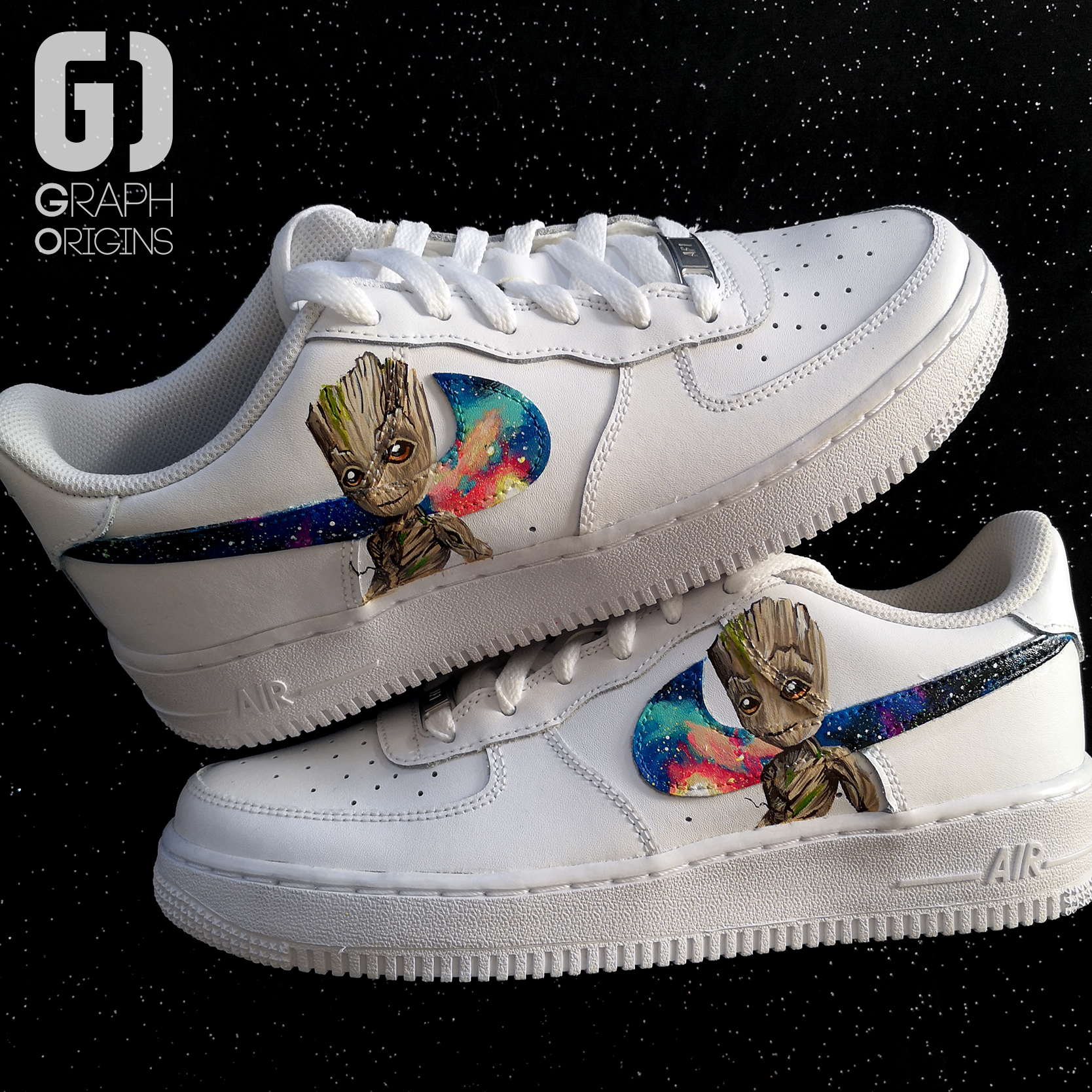 Groot galaxy custom nike air force 1