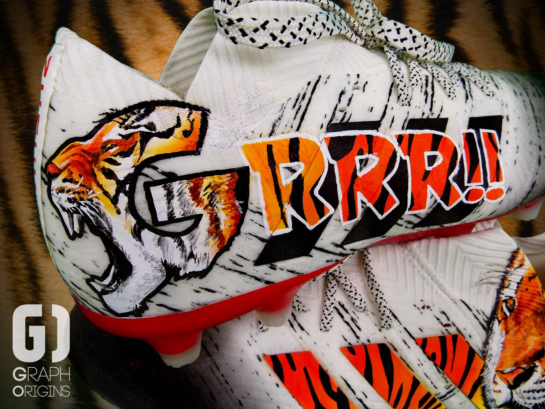 Custom Rony Lopes Tigre Adidas Nemeziz 3