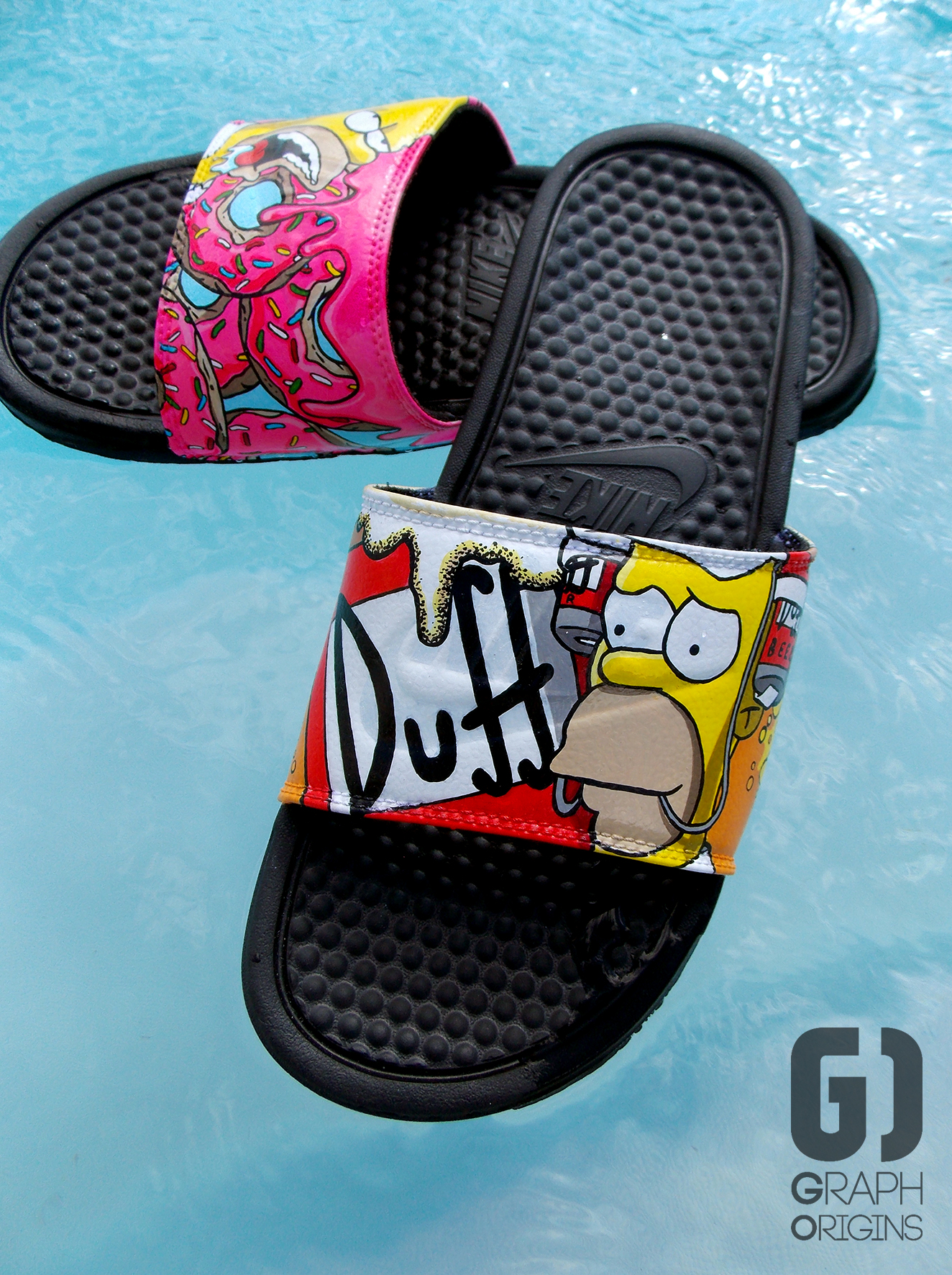 Claquettes Nike Homer Donuts Duff 2