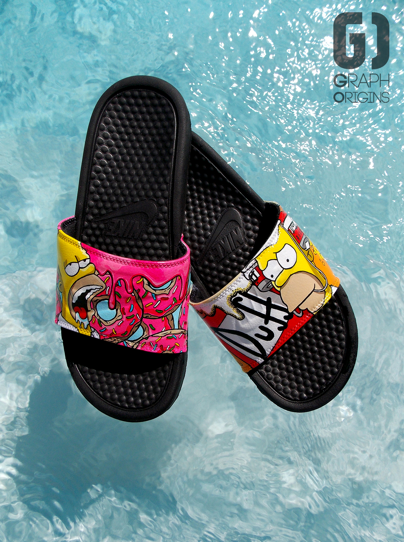 Claquettes Nike Homer Donuts Duff 4