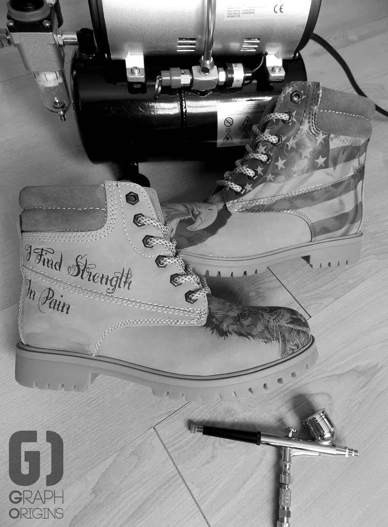 Custom boots lion eagle 7
