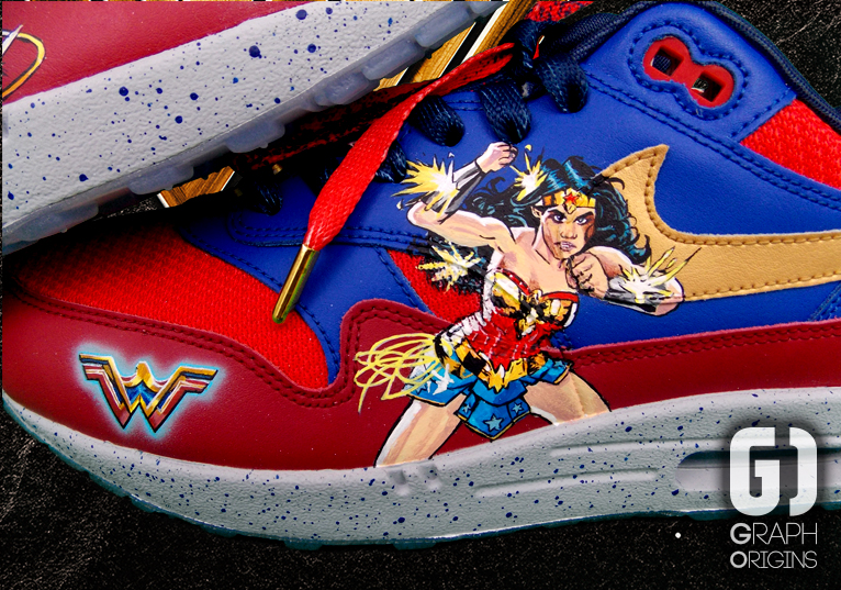 Custom Wonder Woman nike air max 3