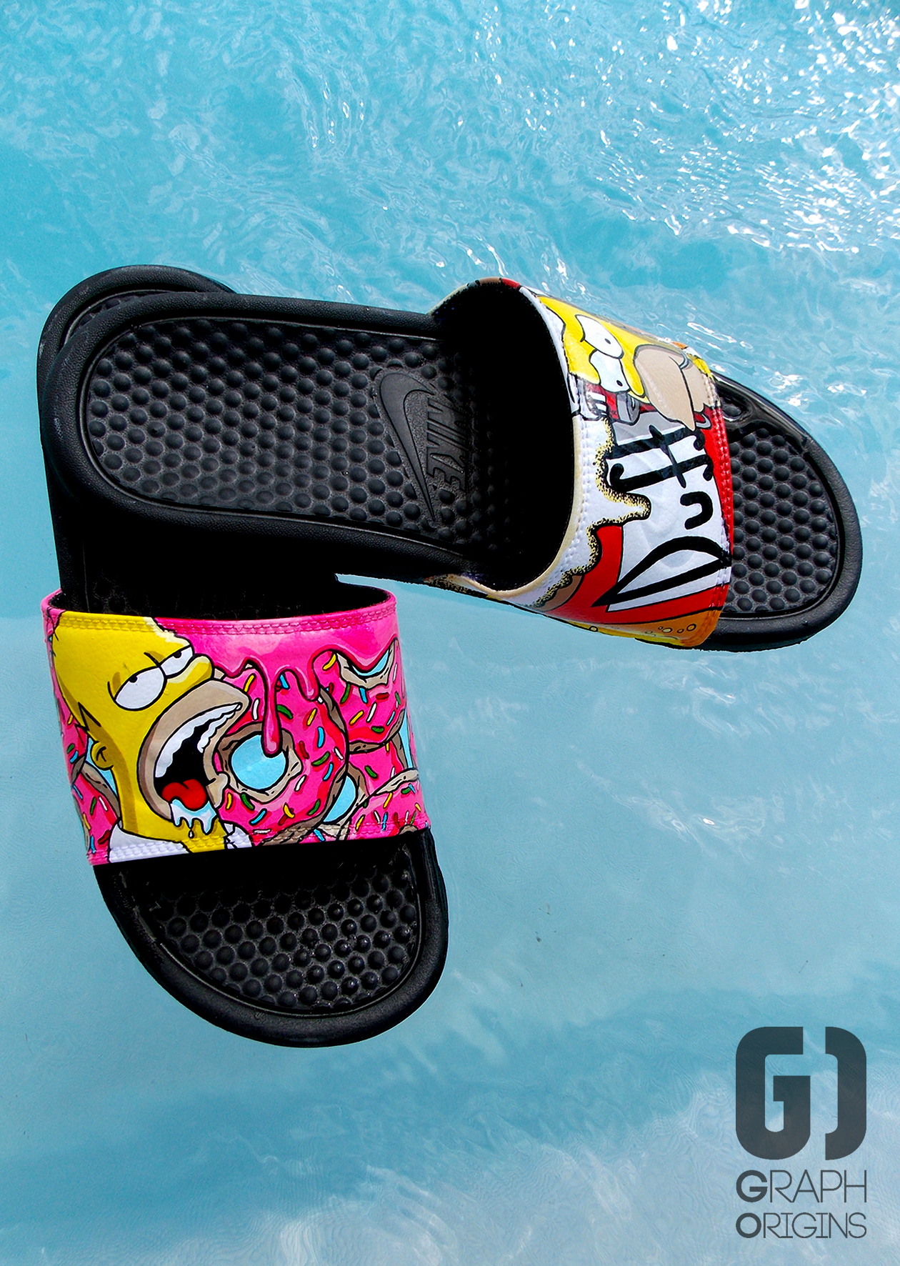 Claquettes Nike Homer Donuts Duff 3