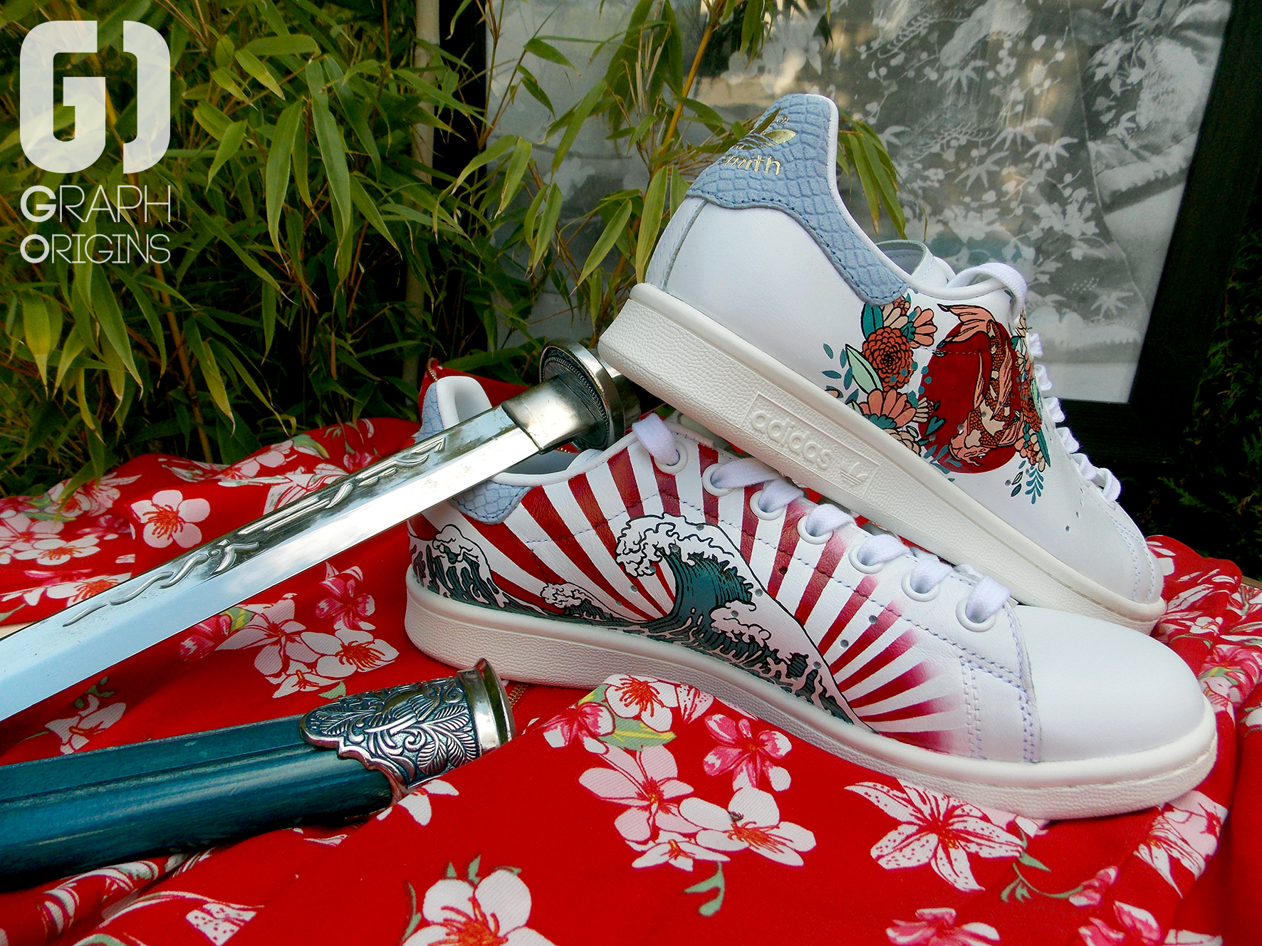 custom japonisant sur adidas stan smith