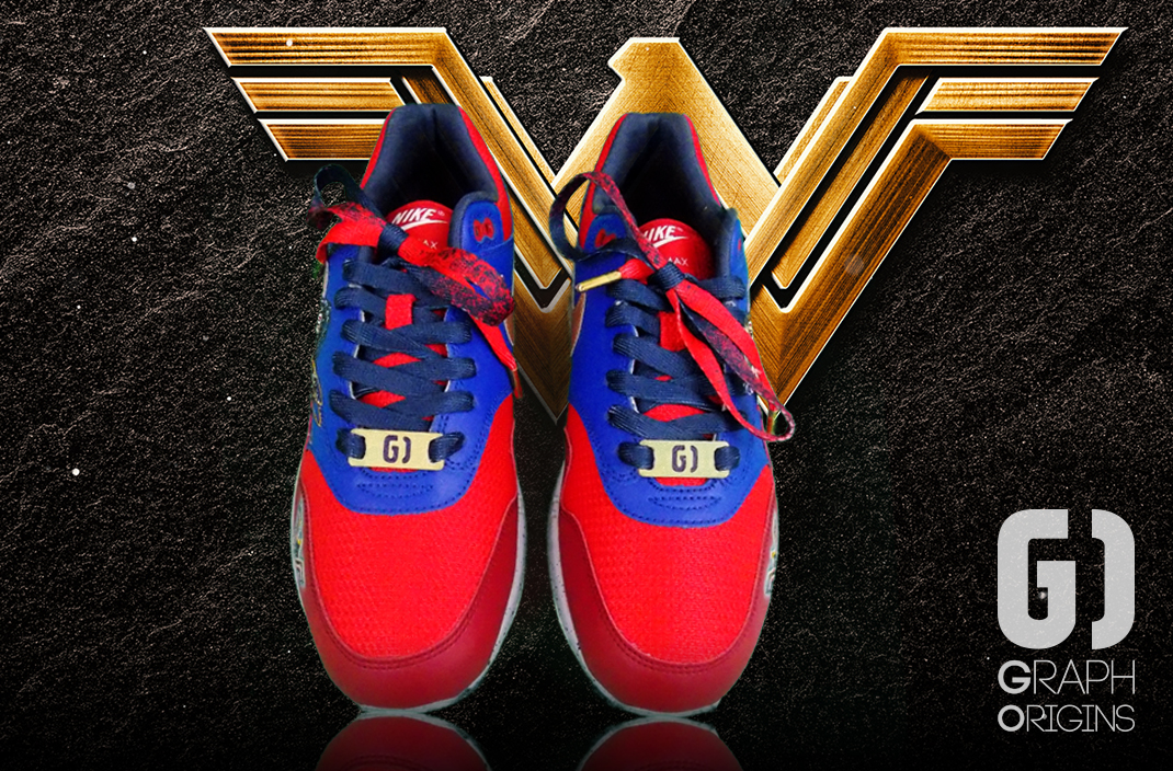 Custom Wonder Woman nike air max