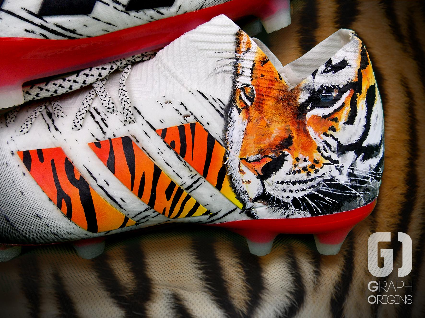 Custom Rony Lopes Tigre Adidas Nemeziz 2