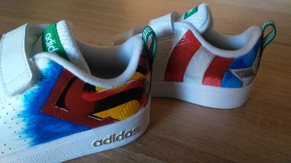 Custom baskets adidas neo marvel graph origins 6