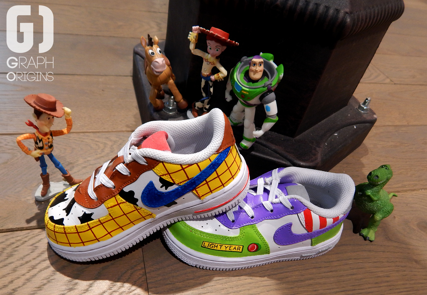 Custom Toy Story sur Nike Air Force 1 Graph Origins 1