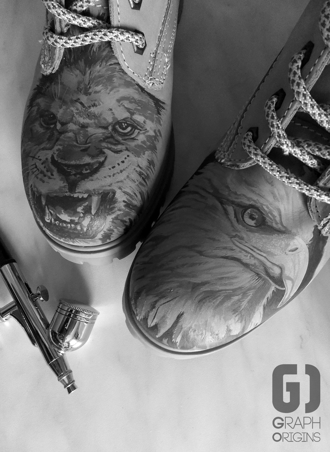 Custom boots lion eagle 5