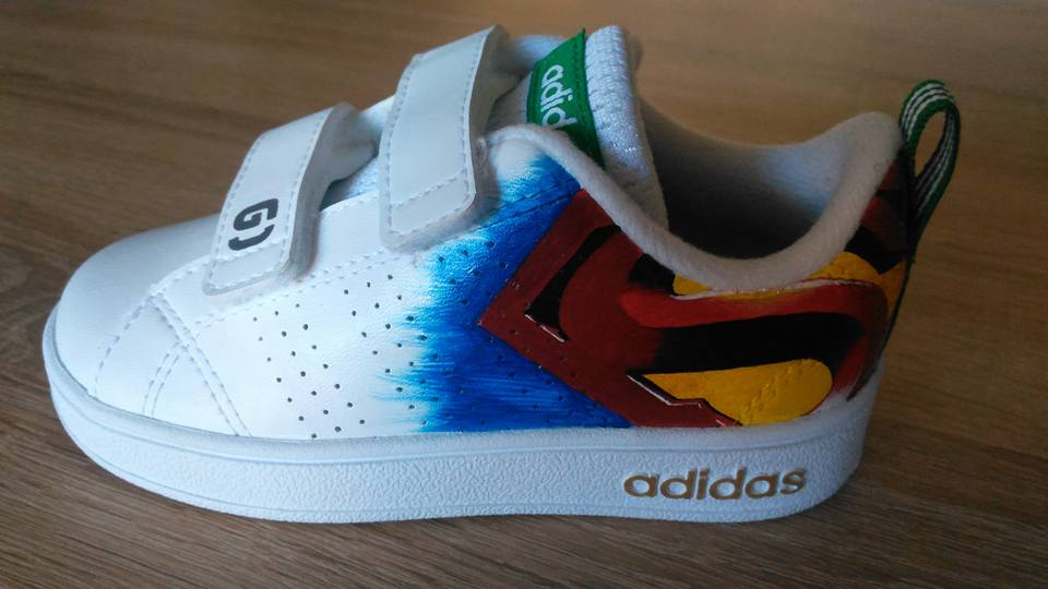Custom baskets adidas neo marvel graph origins 7