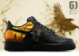 Personnalisation chaussures Nike Air Force 1 Game of thrones Lannister