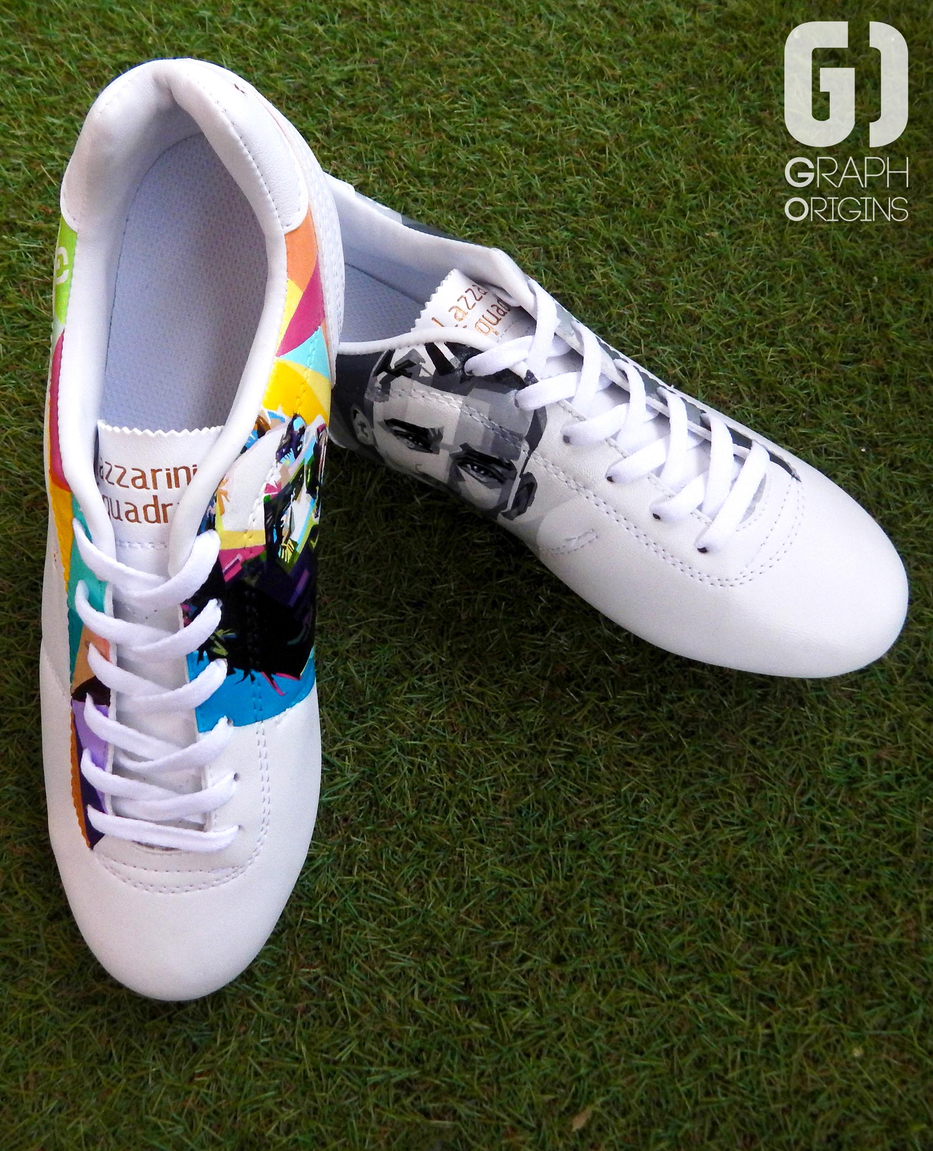 Custom chaussures football pantofola d'oro griezmann graph origins 7