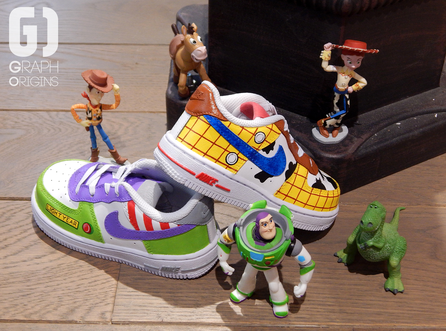 Custom Toy Story sur Nike Air Force 1 Graph Origins 3