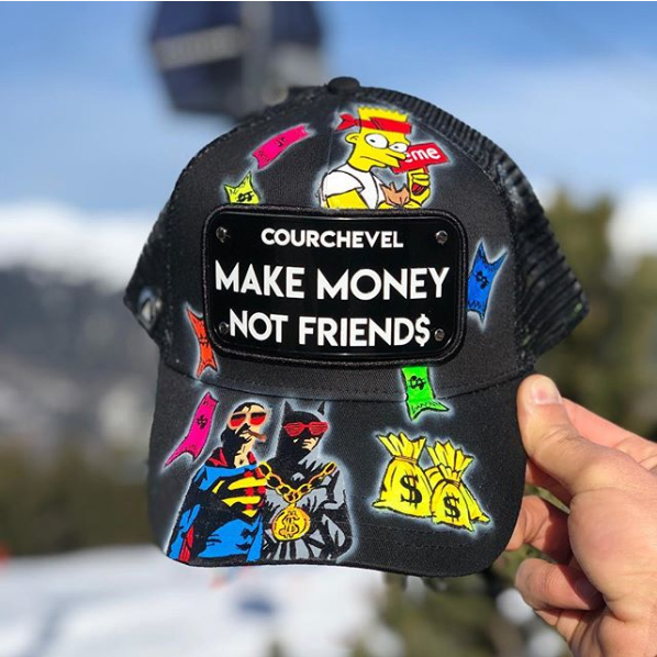 Custom Bart Superhero Caps La Planque