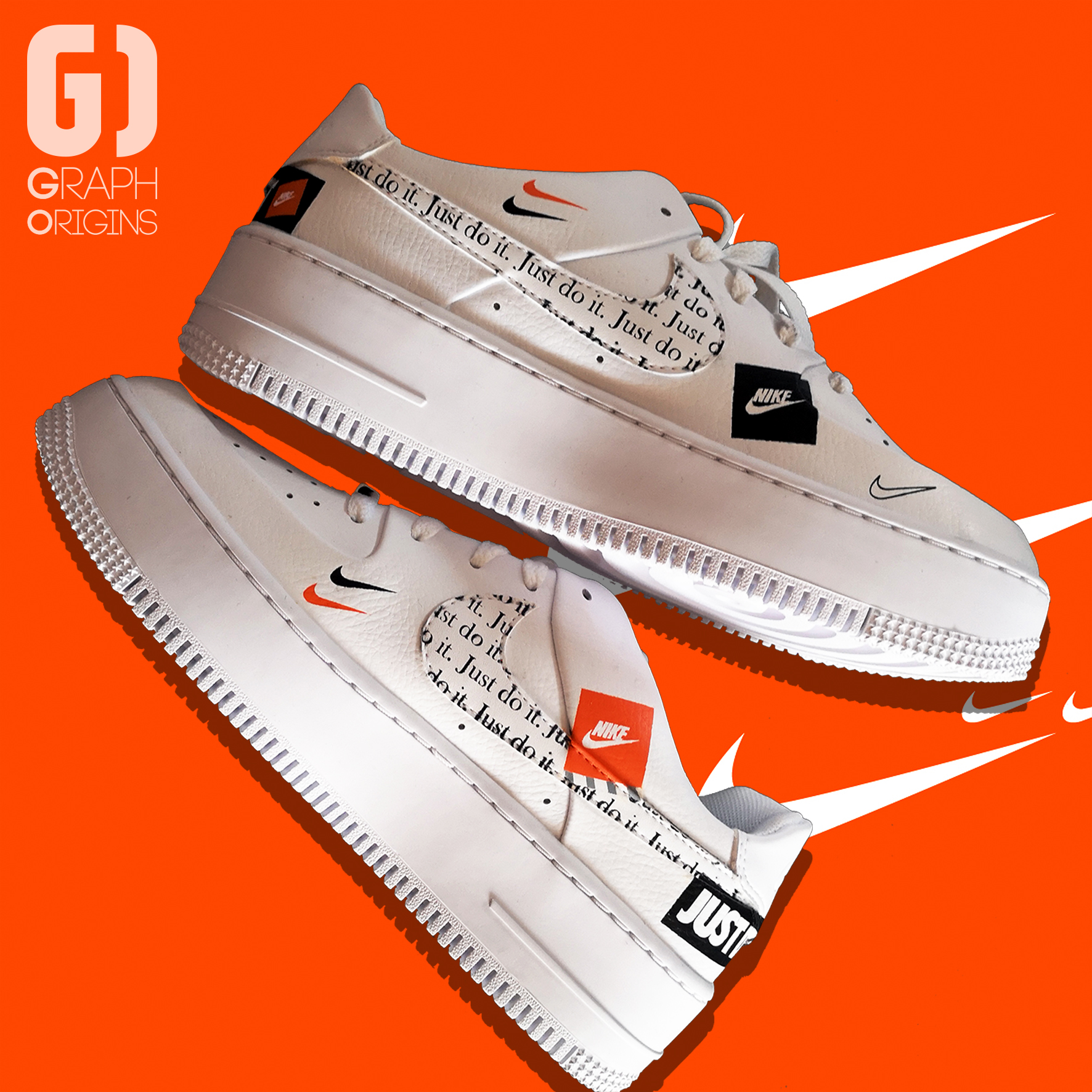 Custom Nike Air Force 1 Just do it 3