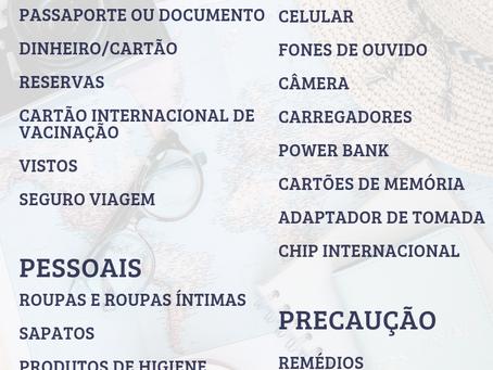 Checklist de Viagem: o que não deixar de levar na mala