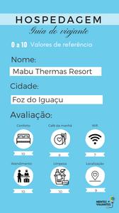 Mabu Thermas Resort - Nota